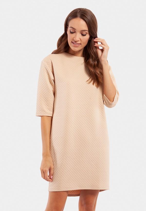 женское повседневные платье vladi collection, бежевое