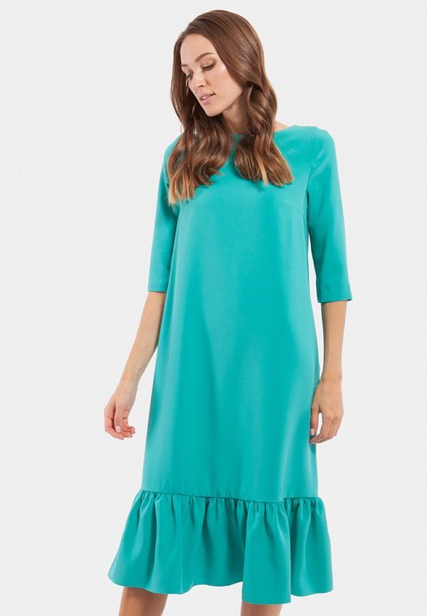 женское платье миди vladi collection, бирюзовое