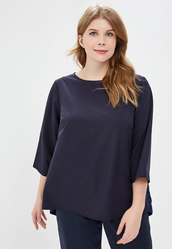 женская блузка jp, синяя