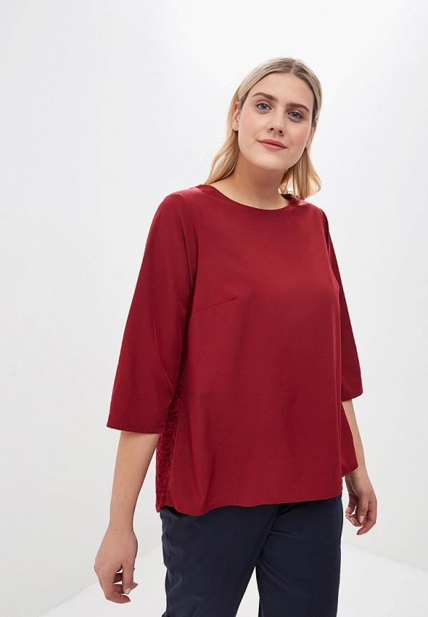 женская блузка jp, бордовая