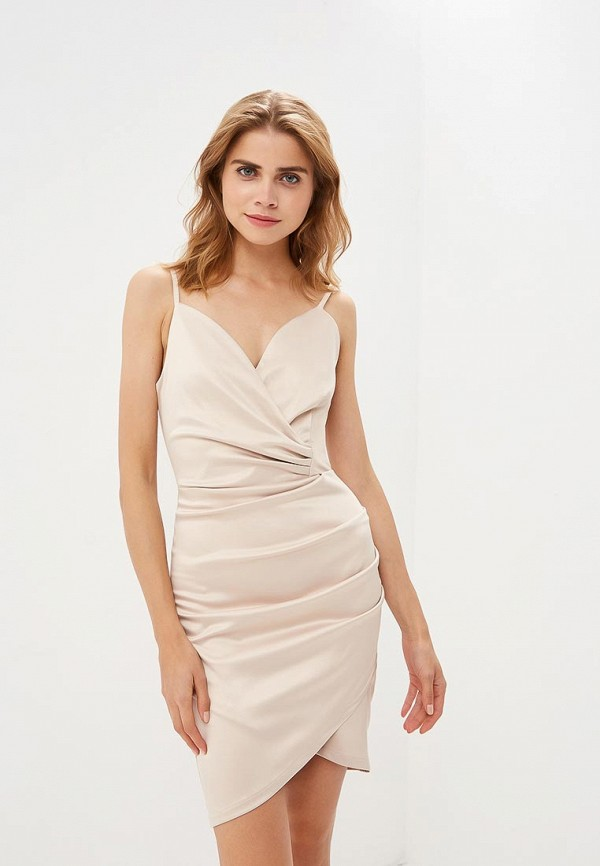 женское вечерние платье zerkala, бежевое