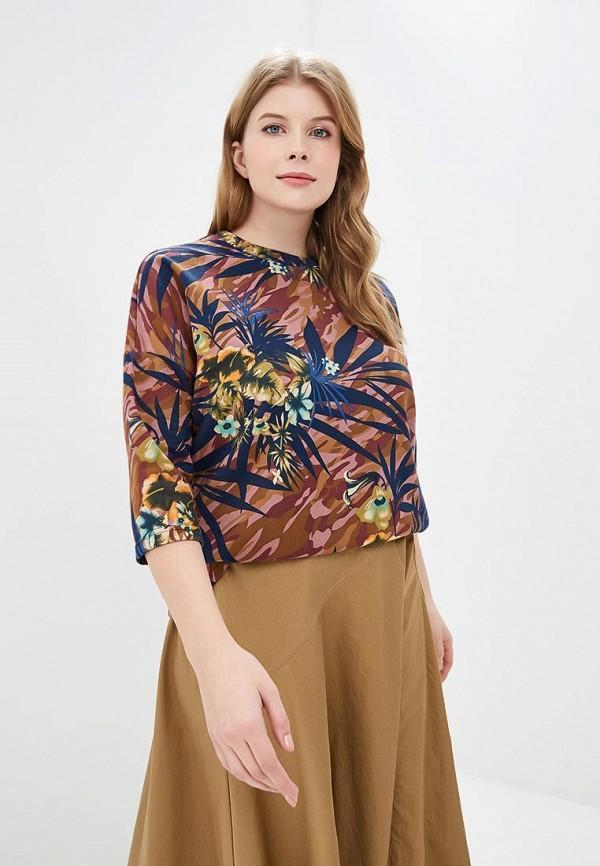 женский лонгслив jp, разноцветный