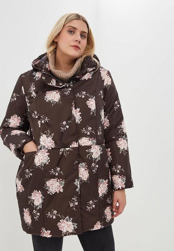 женская куртка jp, коричневая