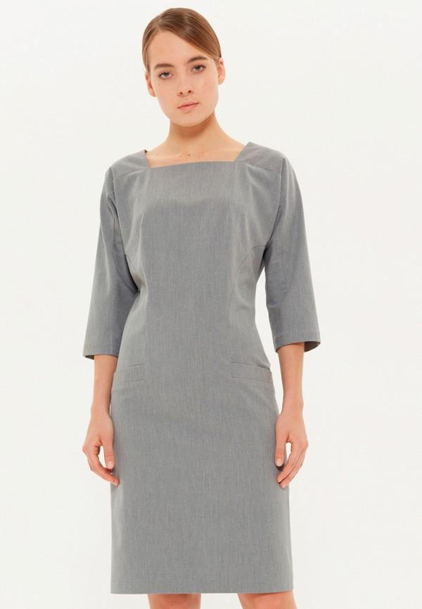 женское платье-футляр base forms, серое