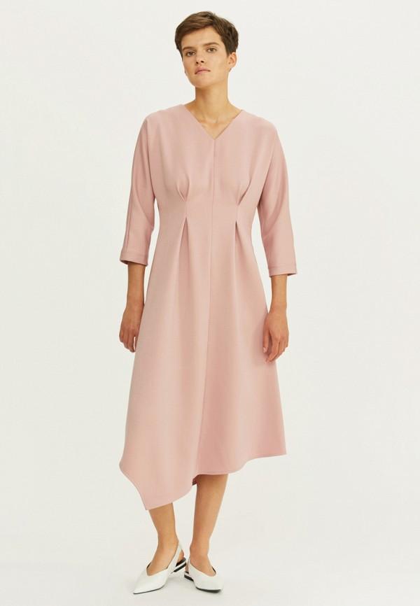 женское повседневные платье base forms, розовое