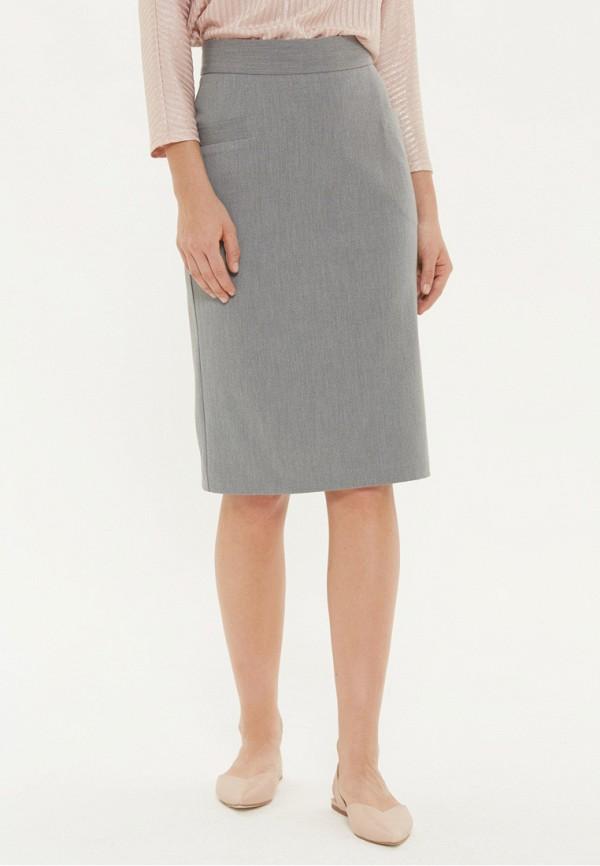 женская прямые юбка base forms, серая