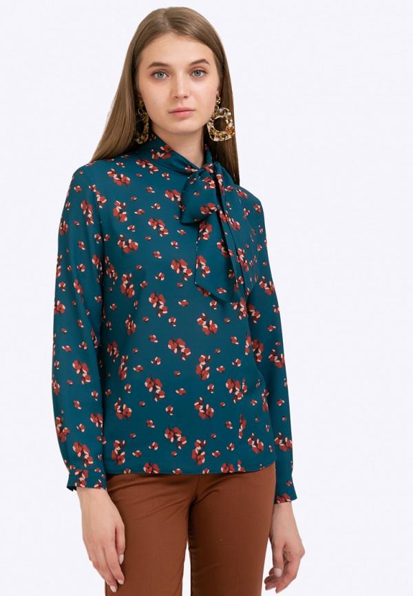 женская блузка emka, бирюзовая