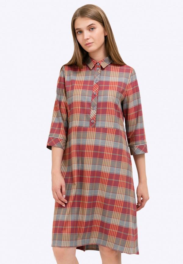 женское платье миди emka, разноцветное