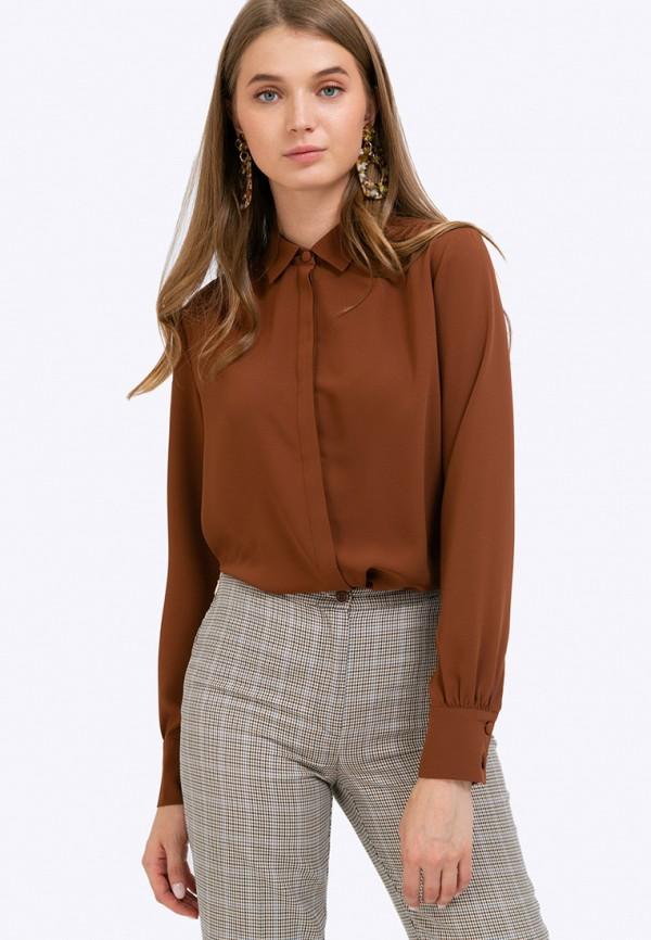 женская блузка emka, коричневая
