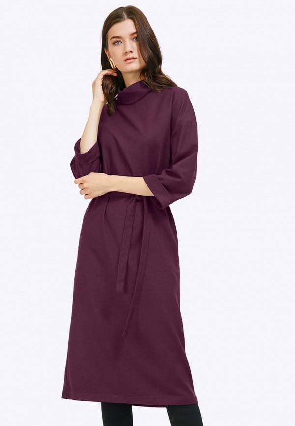женское платье миди emka, фиолетовое