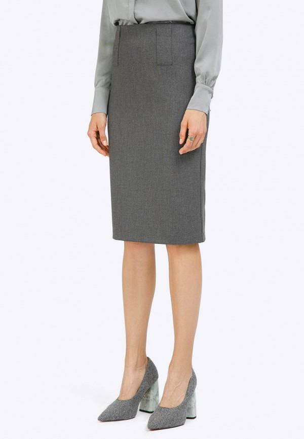женская прямые юбка emka, серая