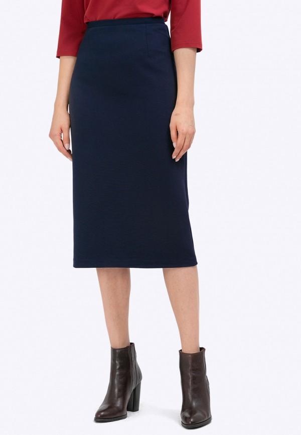 женская прямые юбка emka, синяя