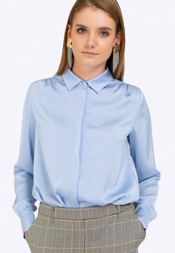 женская блузка emka, голубая