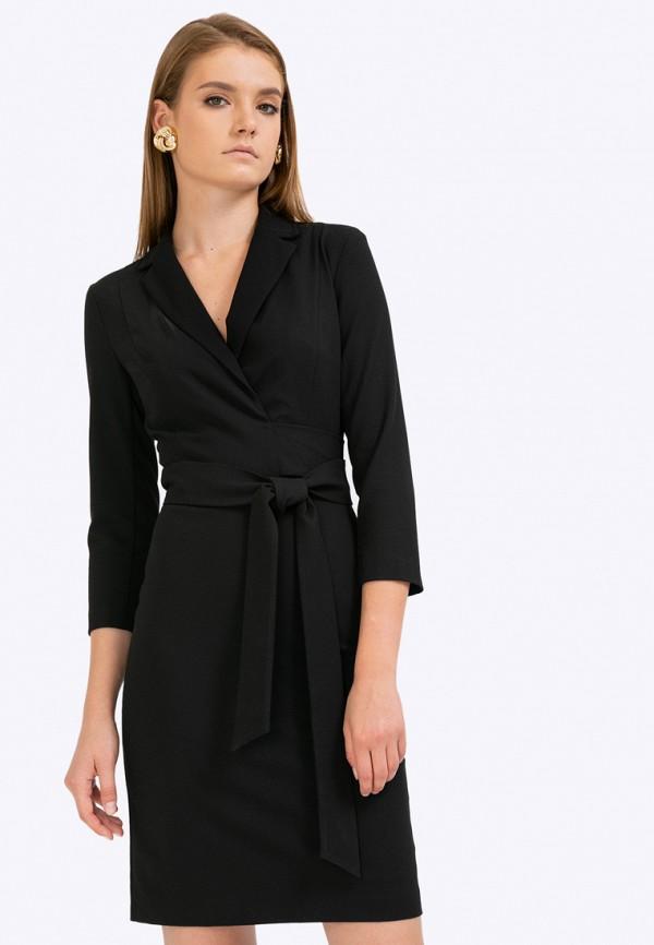 женское повседневные платье emka, черное