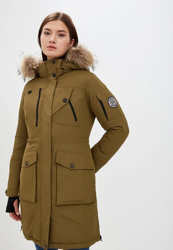 женская куртка snowimage, зеленая