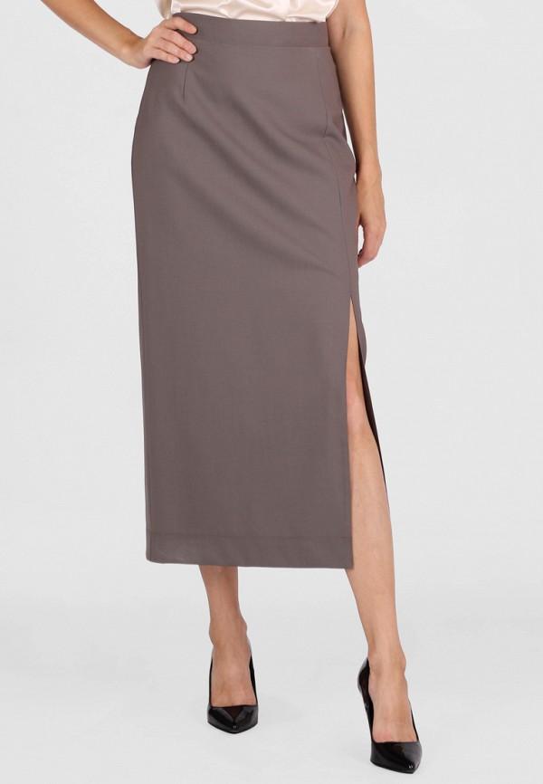 женская прямые юбка panove, коричневая