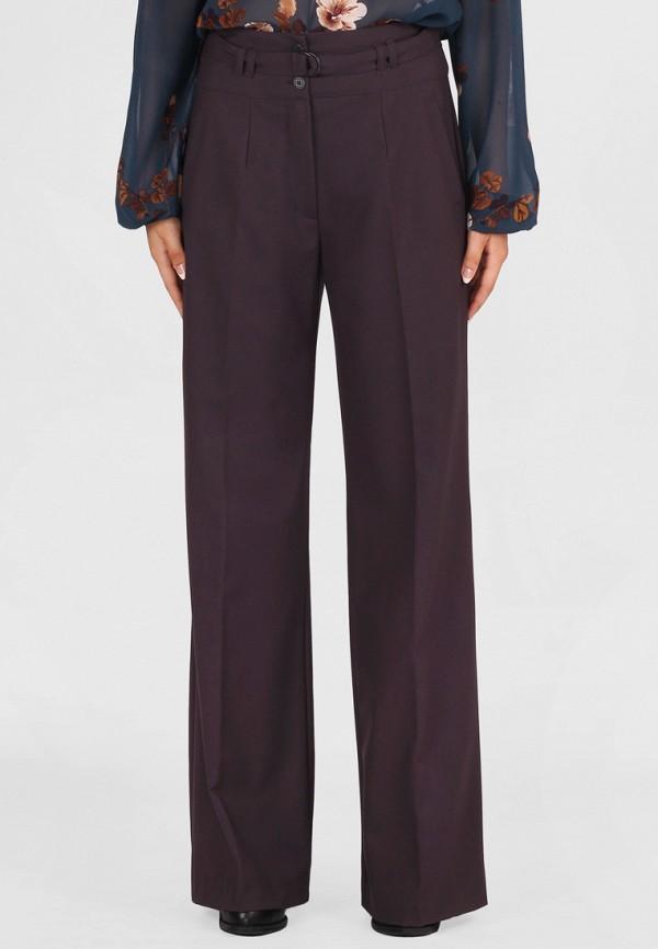 женские классические брюки panove, бордовые