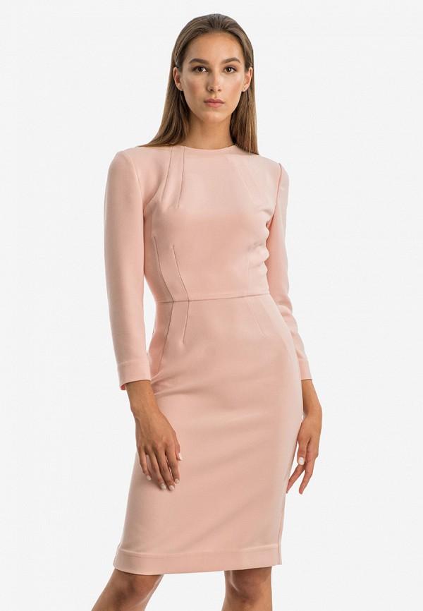 женское платье-футляр nai lu-na by anastasia ivanova, розовое
