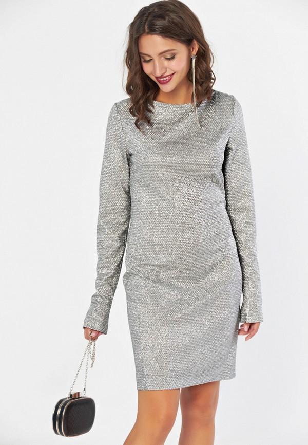 женское вечерние платье fly, серебряное