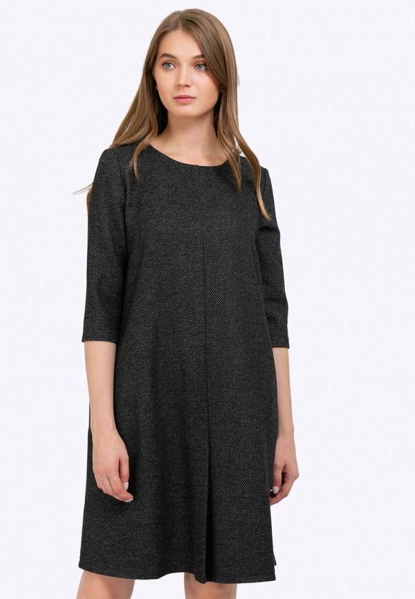 женское платье миди emka, черное