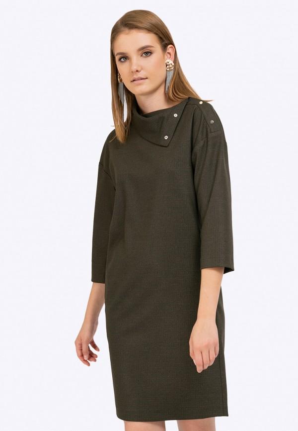 женское повседневные платье emka, хаки