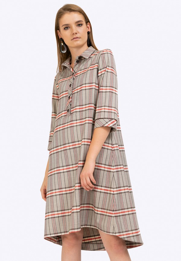 женское повседневные платье emka, бежевое