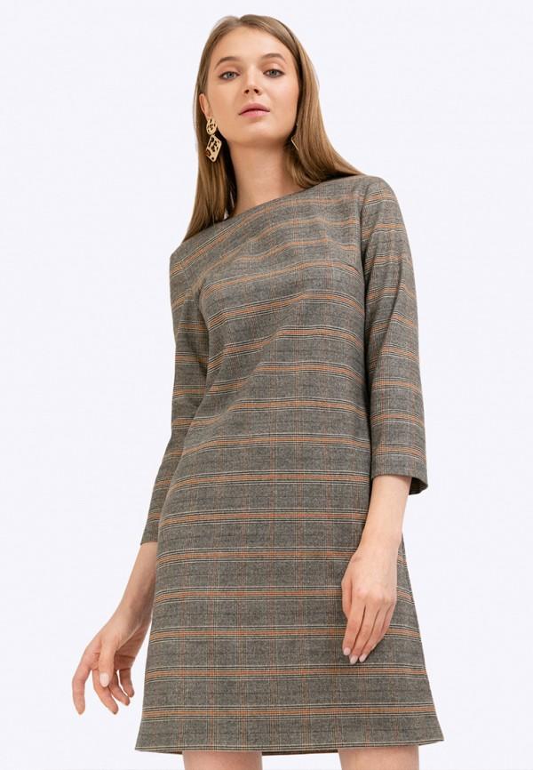 женское платье миди emka, серое