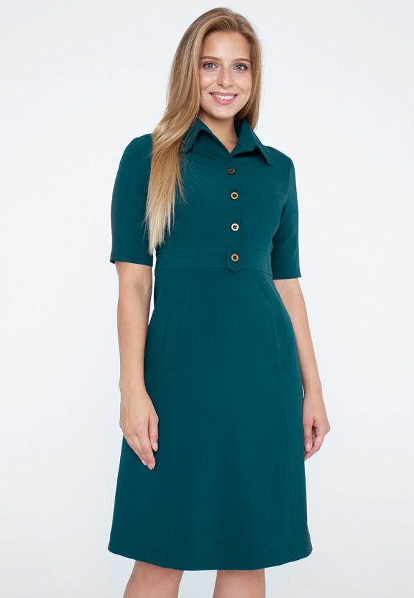 женское платье миди eliseeva olesya, зеленое