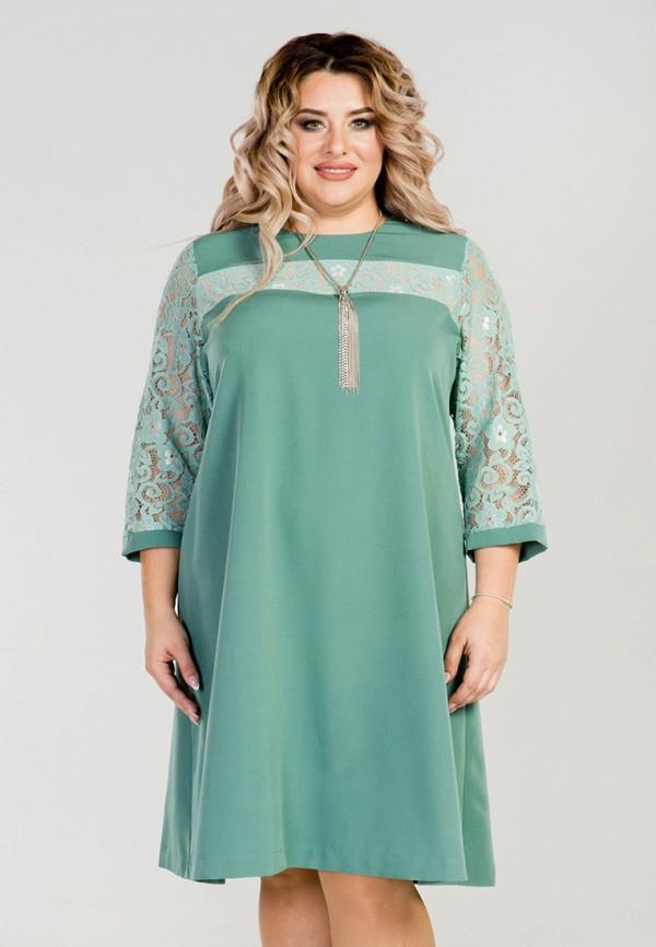 женское вечерние платье luxury plus, зеленое
