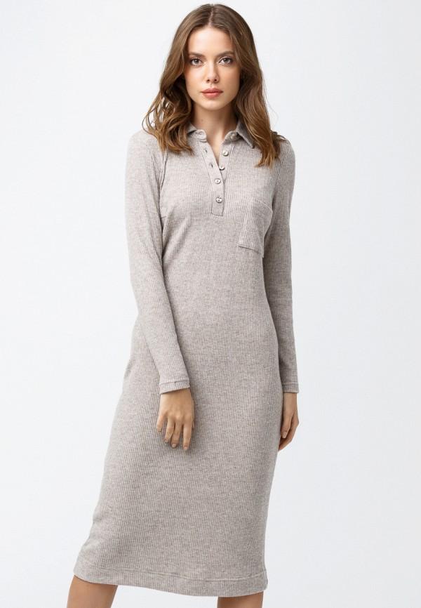 женское повседневные платье oks by oksana demchenko, бежевое