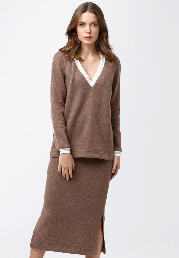 женский костюм oks by oksana demchenko, коричневый