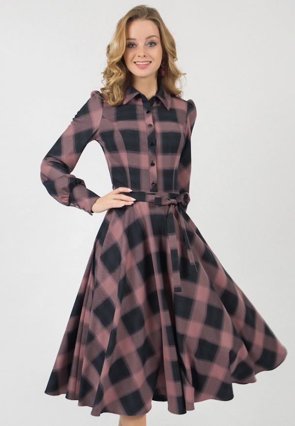 женское платье миди marichuell, розовое