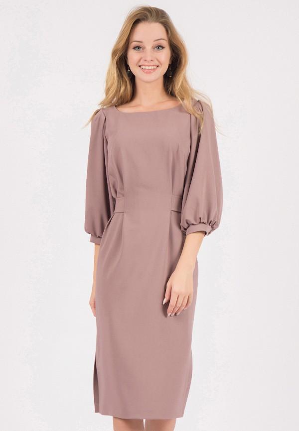 женское платье миди marichuell, коричневое