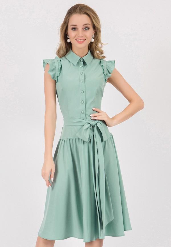 женское платье миди marichuell, зеленое