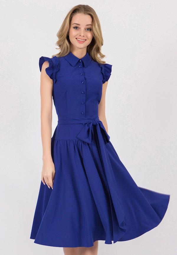 женское платье миди marichuell, синее