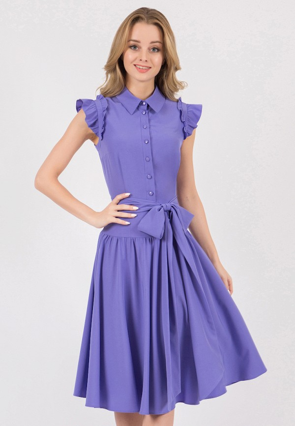 женское платье миди marichuell, фиолетовое