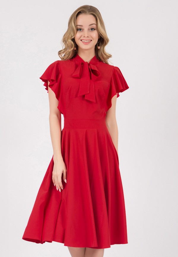 женское платье миди marichuell, красное