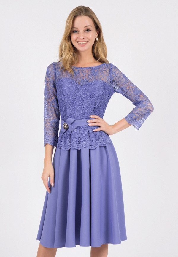 женское вечерние платье marichuell, голубое