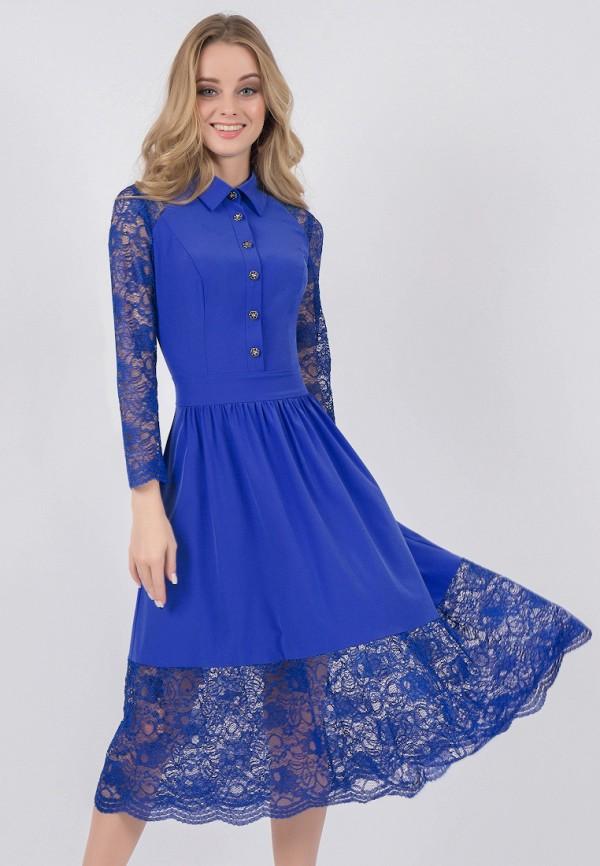 женское вечерние платье marichuell, синее