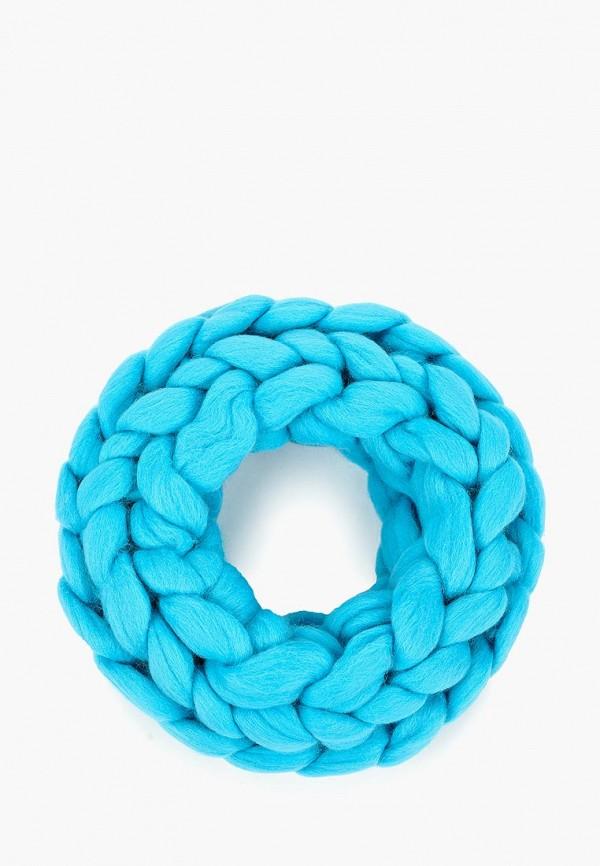 женский снуд cloudlet, голубой