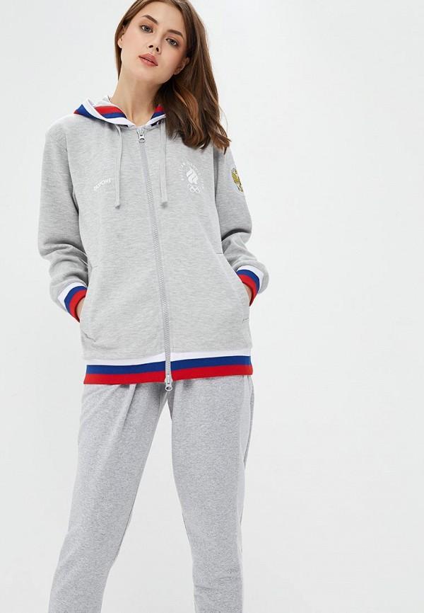 Купить Толстовка Zasport, mp002xw1hcma, серый, Осень-зима 2018/2019