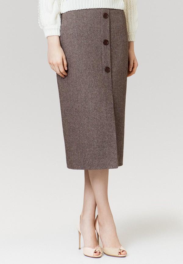 женская прямые юбка ummami, коричневая