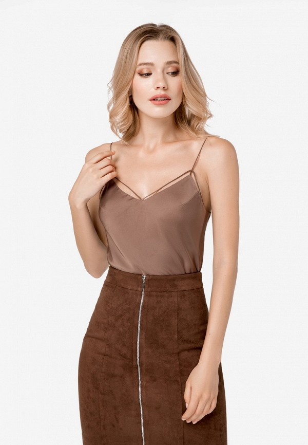 Купить Топ SoloU, mp002xw1hcqq, коричневый, Осень-зима 2018/2019