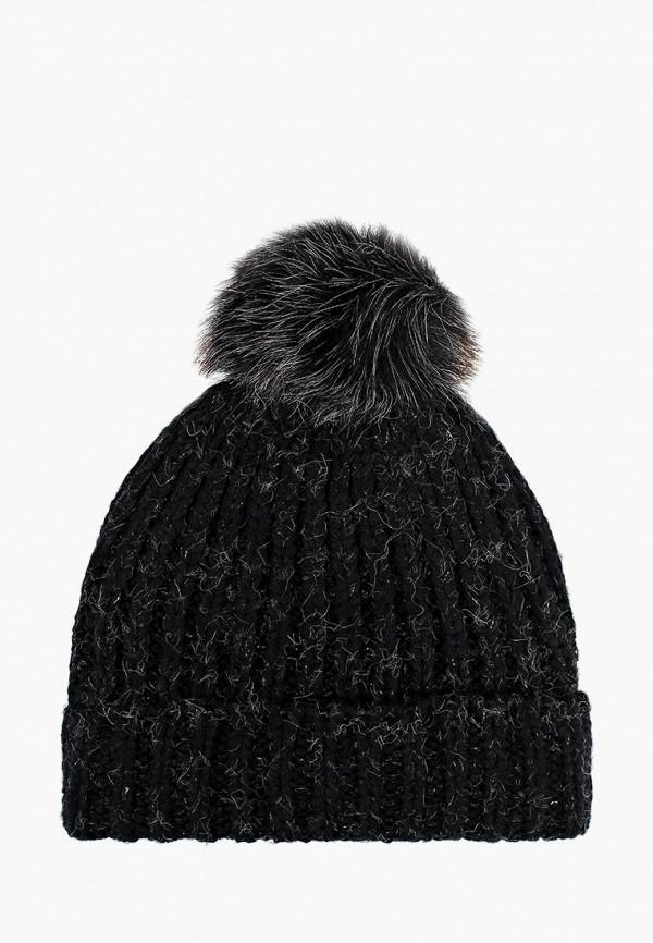 женская шапка moltini, черная