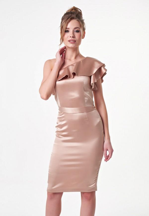 женское вечерние платье irma dressy, бежевое