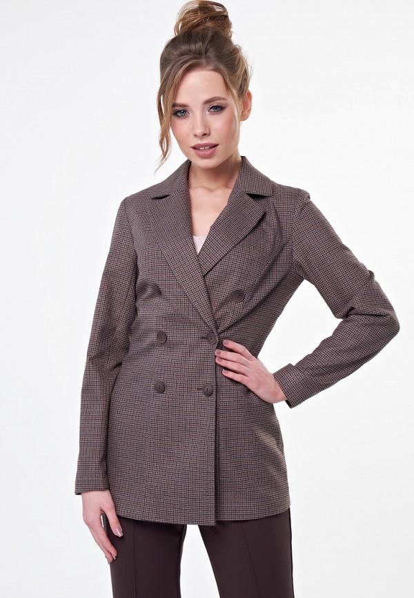 женский пиджак irma dressy, коричневый