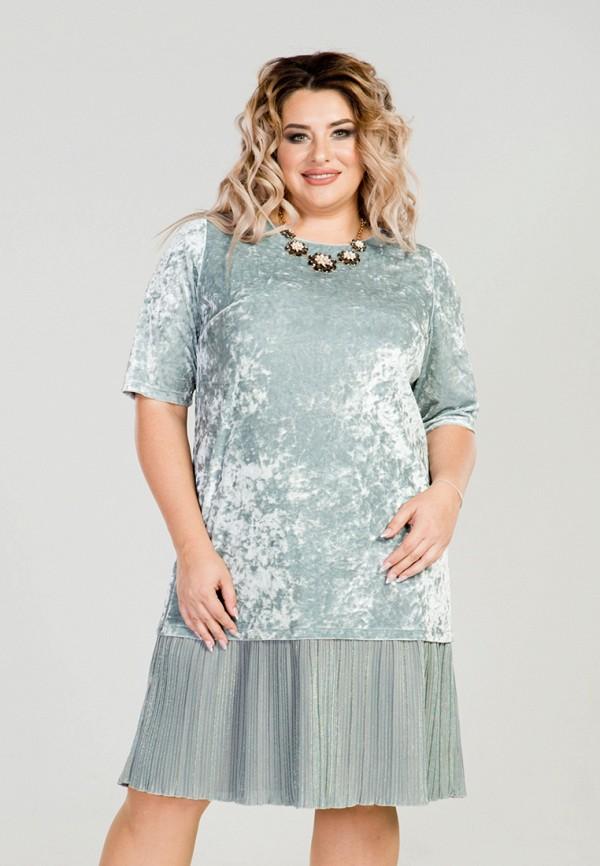 женское вечерние платье luxury plus, бирюзовое