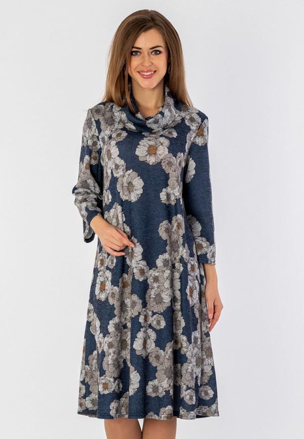 женское платье миди s&a style, синее