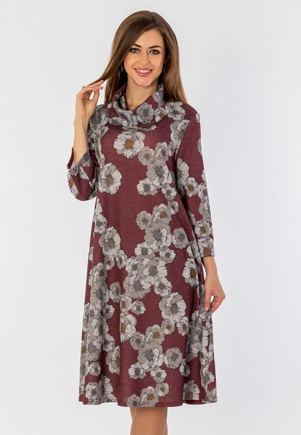 женское платье миди s&a style, бордовое