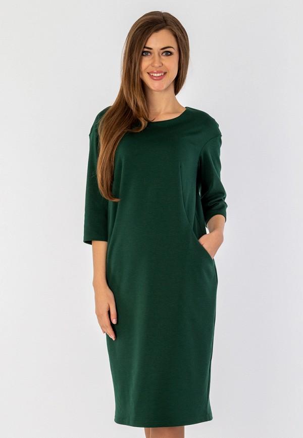 женское платье миди s&a style, зеленое